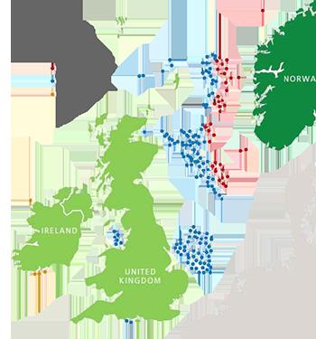 Map Of Uk Oil Fields.North Sea Oil Revenue